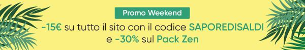-15€ con il codice SAPOREDISALDI e -30% sul Pack Zen