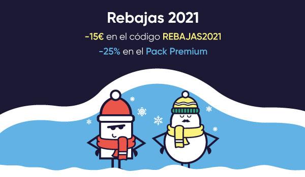 -15€ con el codigo REBAJAS202, -30% en el Pack Zen y -25% en el Pack Premium