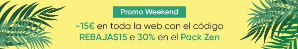 -15€ con el código REBAJAS15 y menos treinta por ciento en el Pack Zen
