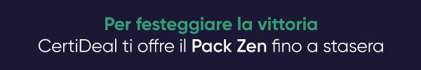 -5% con il Codice CASHBACK e Pack Zen Offerto